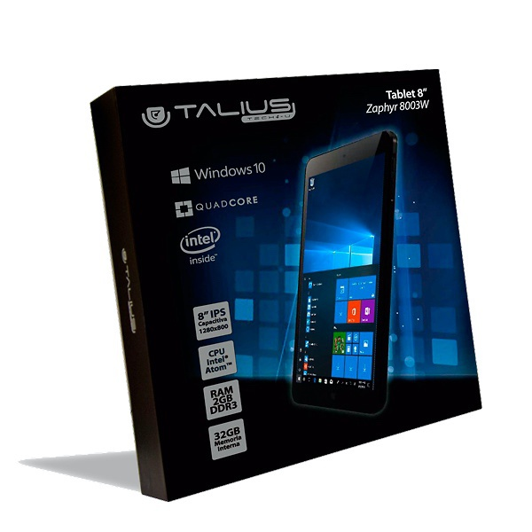 Tablet Windows 10 - 8 pulgadas TALIUS ZAPHYR 8003-W