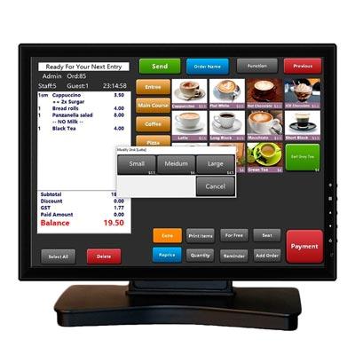 "Monitor táctil 17"" VIVAPOS - USB+DVI+Altavoces"